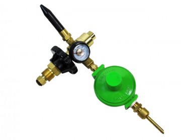 New Zephyr Helium Foil Latex Dual Balloon Downward Inflator Gauge Auto Shutoff