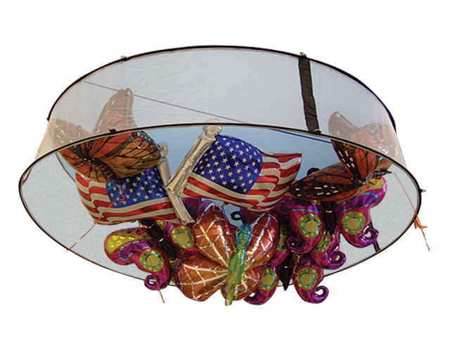 Zephyr Helium 9-Foot Round Balloon Corral