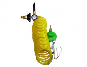 Zephyr Helium Foil Latex Balloon Dual Inflator 12 Foot Extension Hose