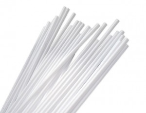 Zephyr Helium White Balloon Sticks