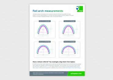 Zephyr Small Foil Arch Kit Measurement Guide