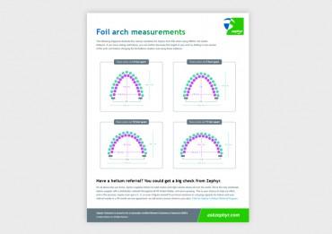 Zephyr Small Foil Arch Kit Measurement Guide