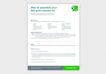 Foil Arch & Column Assembly Instructions