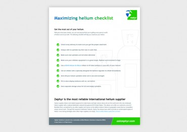 Checklist for Maximizing Zephyr Helium