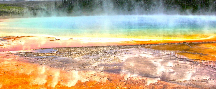 Ancient helium found escaping under yellowstone park
