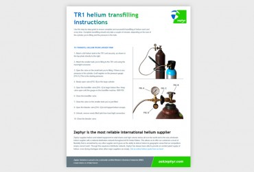 Zephyr Helium Transfilling Guide