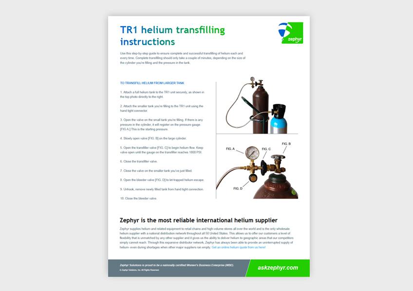 Zephyr Helium Transfilling Guide
