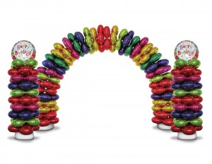 Zephyr Deluxe Foil Balloon Arch and Column Kit