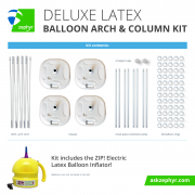Zephyr Solutions Deluxe Latex Balloon Arch & Column Kit