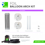 Zephyr Solutions Foil Balloon Arch Kit