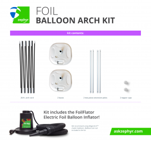 Zephyr Solutions Foil Balloon Arch Kit