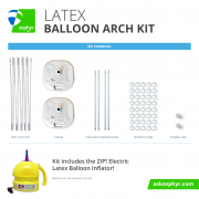 Zephyr Solutions Latex Balloon Arch Kit