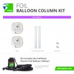 Zephyr Solutions Foil Balloon Column Kit
