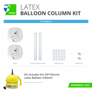 Zephyr Solutions Latex Balloon Column Kit