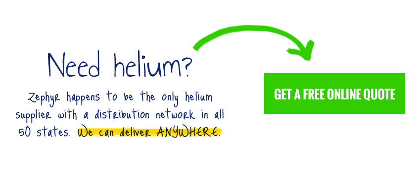 Need helium? Get a free helium quote from Zephyr Solutions