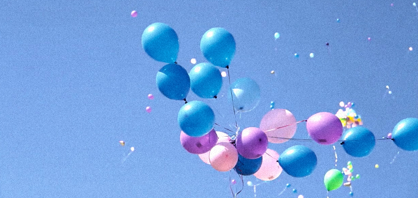 What happens to helium balloons when you let go