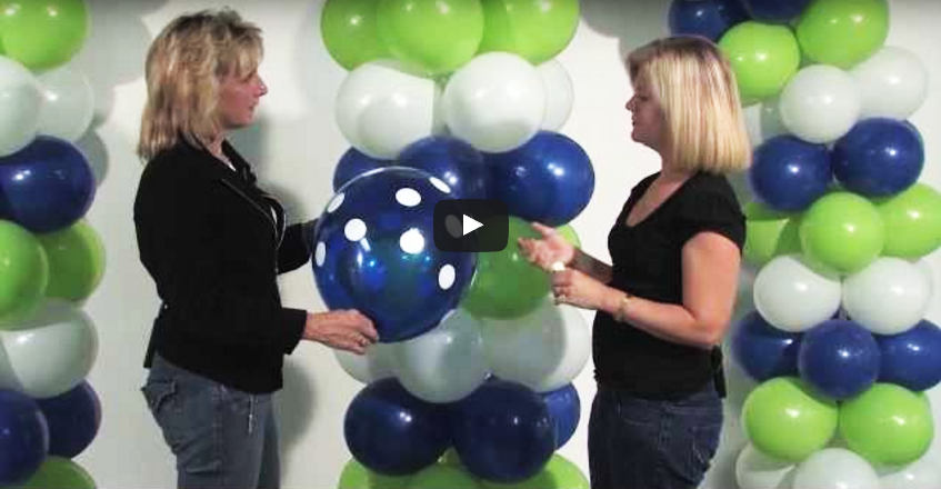 How to make a latex balloon arch no helium zephyr for Balloon arch no helium