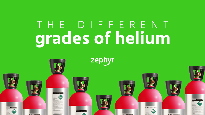 Grades of helium: the differences and uses