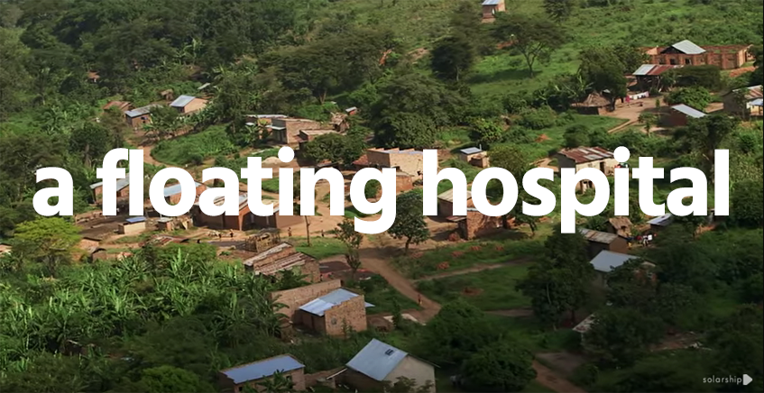 Solar Ship - Using helium to drop hospitals into remote villages