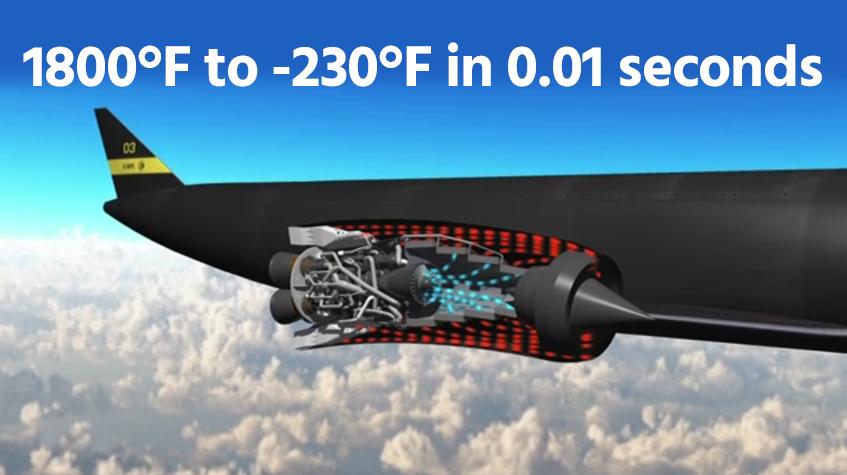 Helium cooled hybrid jet rocket Sabre engine