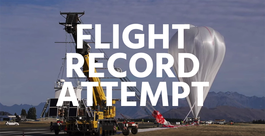 NASA super high pressure helium balloon flight duration record