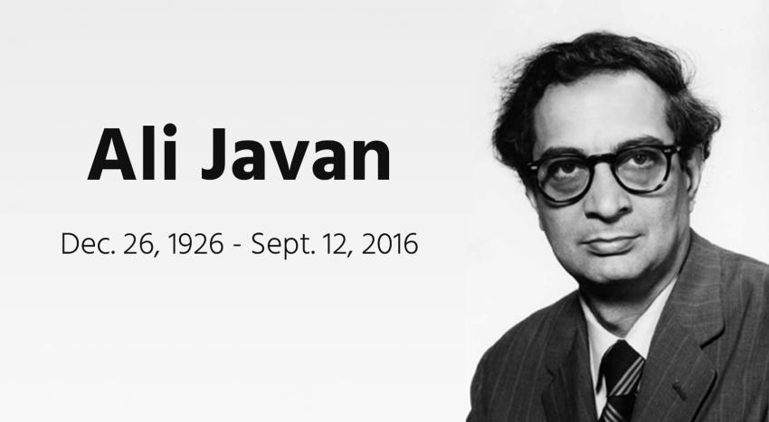Ali Javan Helium Gas Laser Inventor Dies