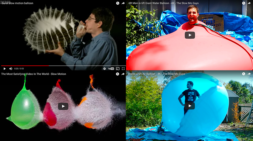 10 Wildest Slow Motion Balloon Burst Videos