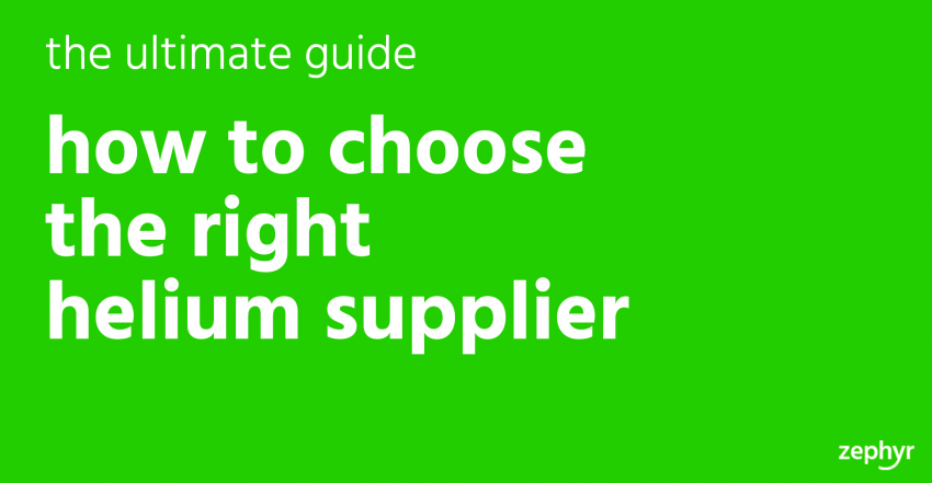 How To Choose The Right Helium Supplier