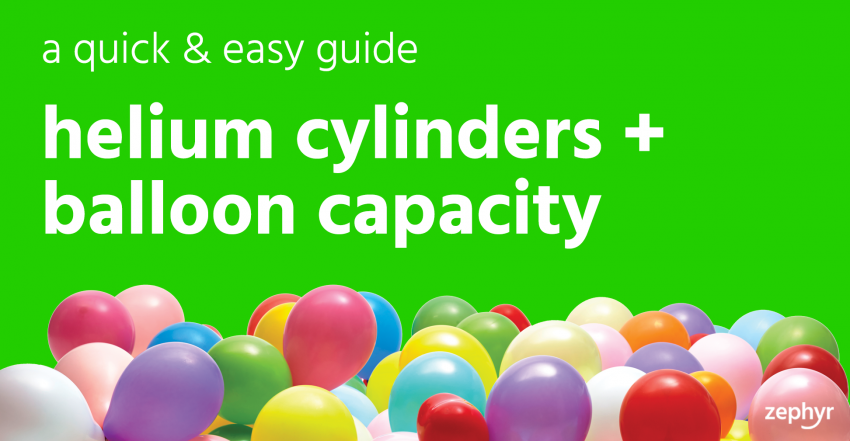 Helium cylinders & balloon capacity guide