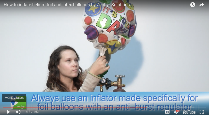 Ask Zephyr: How to inflate foil and latex helium balloons