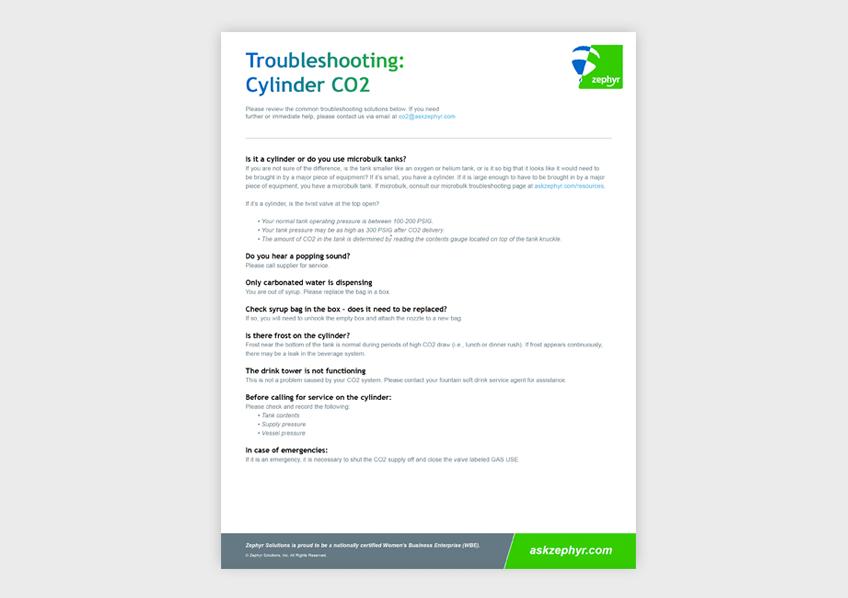 Troubleshooting: Cylinder CO2