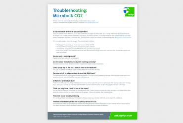 Troubleshooting: Microbulk CO2