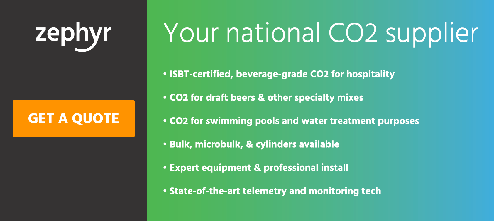 Get a free CO2 quote from Zephyr