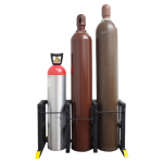 Triple Helium Cylinder Safety Stand Zephyr Solutions